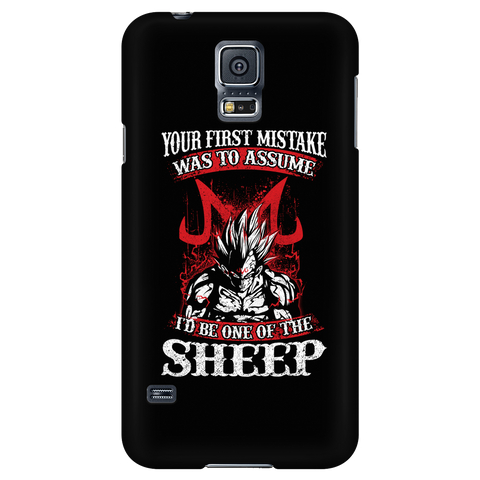 Super Saiyan Majin Vegeta - Your First Mistake Was To Assume I'd Be One Of The Sheep - Android Phone Case - TL01236AD