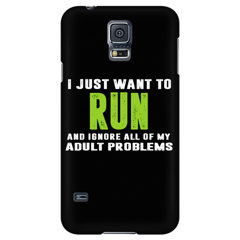 Running- I just want to run and ignore all of my adult problems - Android Phone Case - TL01334AD