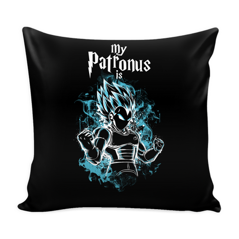 "Super Saiyan - My Patronus is Vegeta God  - Pillow Cover 16"" - TL00899PL"