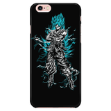 Super Saiyan Goku God Blue iPhone 5, 5s, 6, 6s, 6 plus, 6s plus phone case - TL00207PC-BLACK