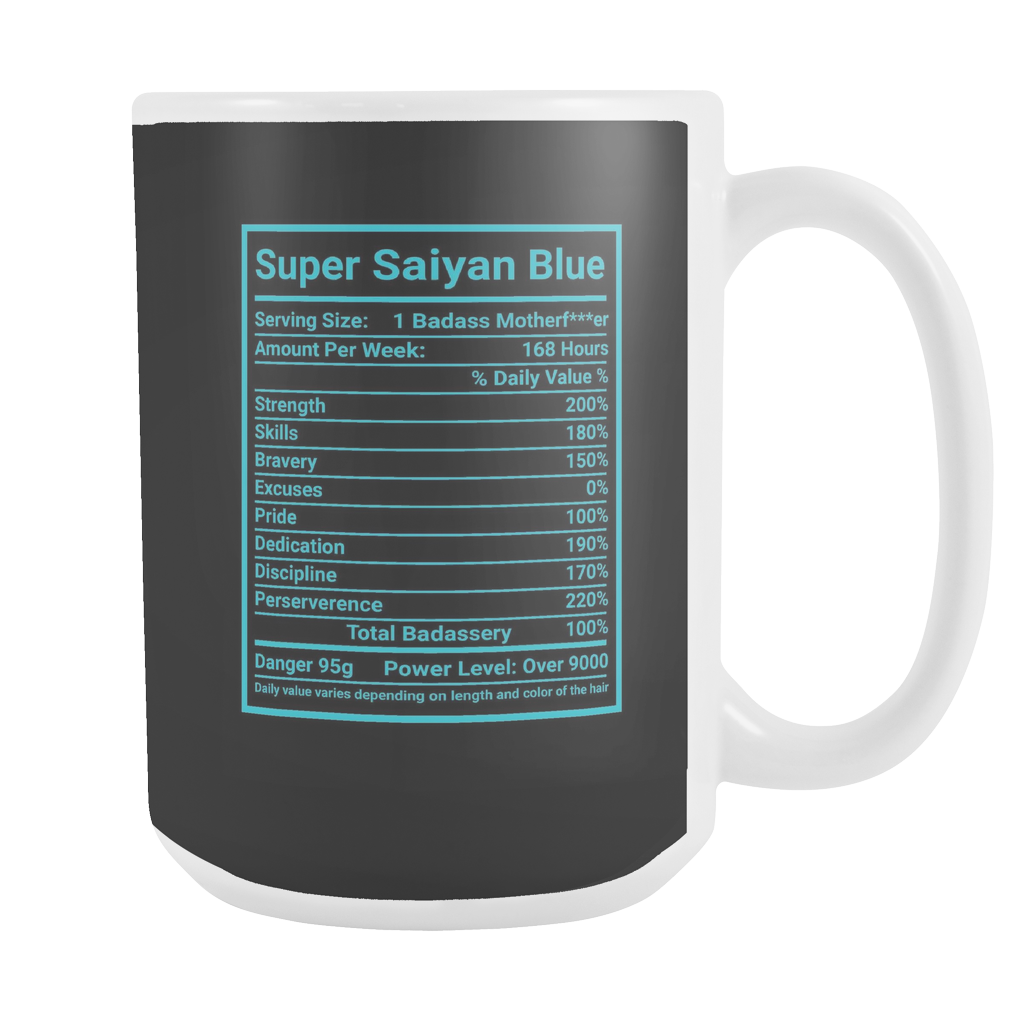 SUPER SAIYAN BLUE GOD 15oz Coffee Mug -TL00175M5