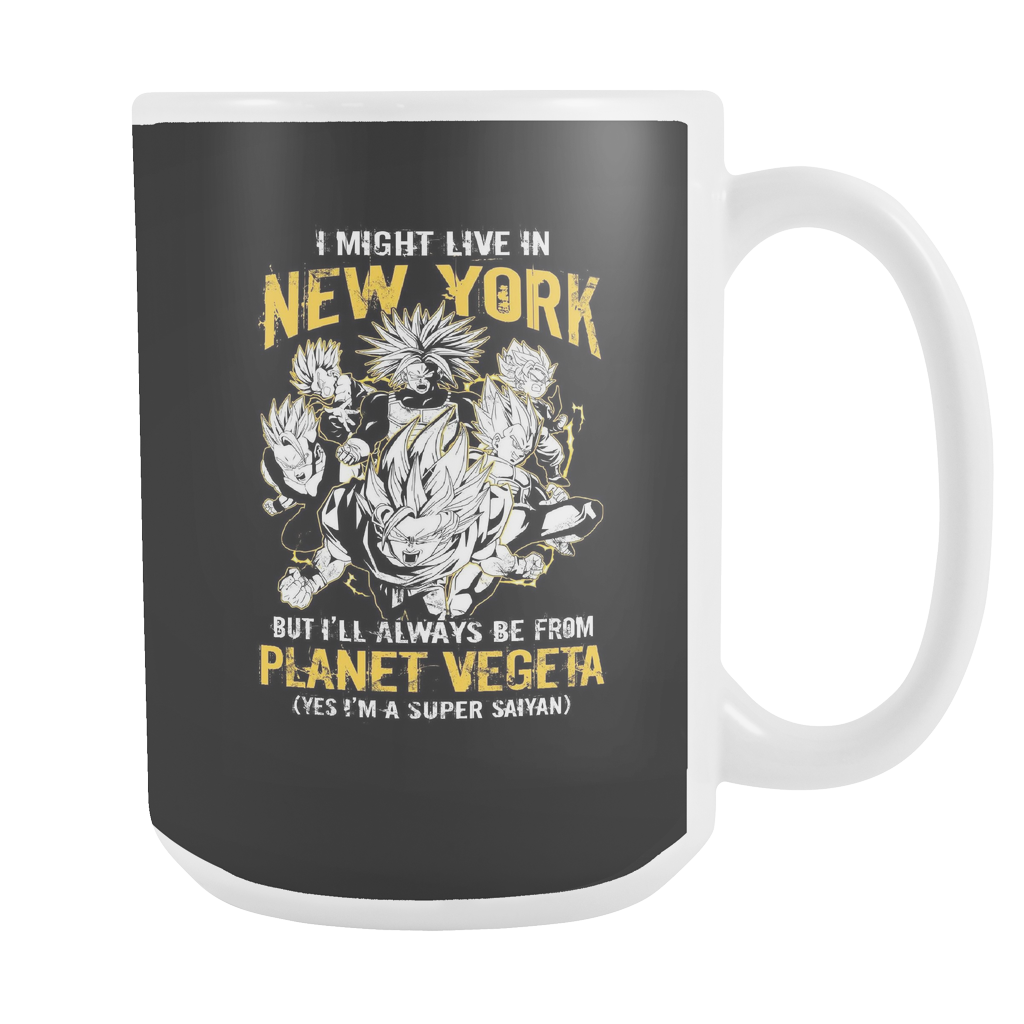 Super Saiyan I May Live in New York Group 15oz Coffee Mug - TL000625W5