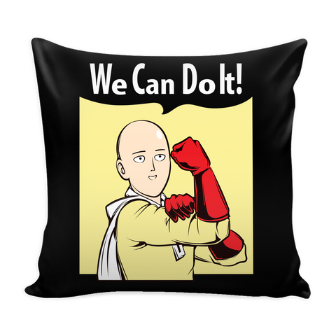 "One Punch Saitama We Can Do It Pillow Cover 16""- TL00452PL"