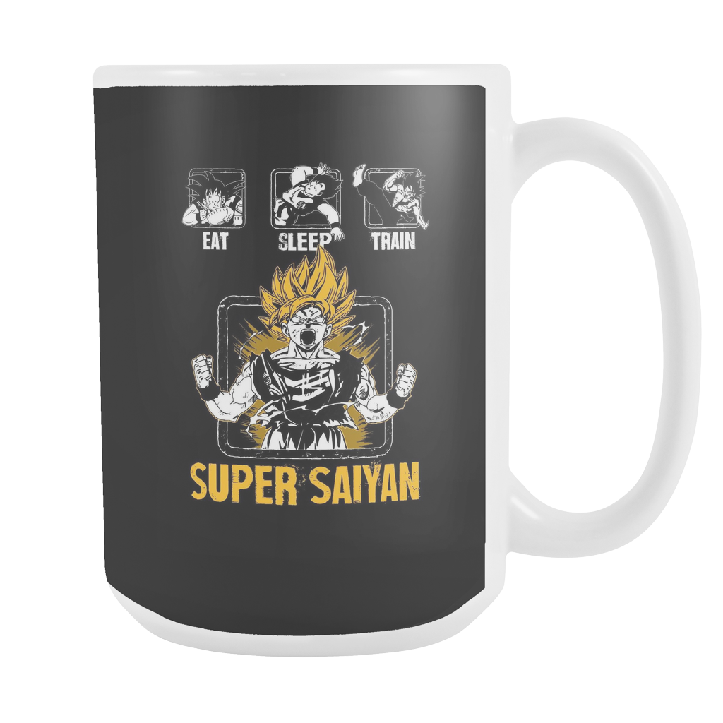 Super Saiyan Goku Training 15oz Coffee Mug - TL00043M5