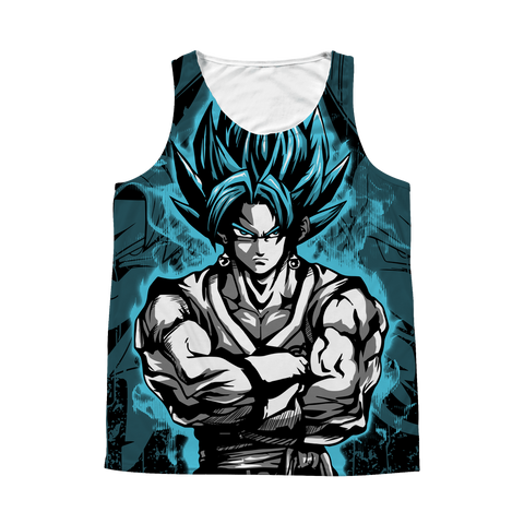 Super Saiyan - SSJ Vegito God Blue - 1 Sided 3D tank top t shirt Tank - TL00897AT