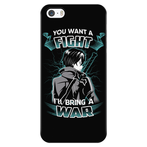 Sword art online - you want a fight i ll bring the war - Iphone Phone Case - TL01193PC
