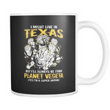 Super Saiyan I May Live in Texas 11oz Coffee Mug - TL00061M1