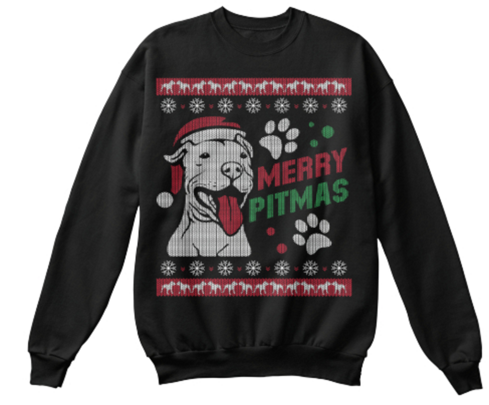 Christmas Sweatshirt- Merry Pitmas -Unisex Sweatshirt - The TShirt Collection