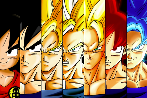 Super saiyan Goku Transformation  Evolution Poster 18x24 - SSID2016