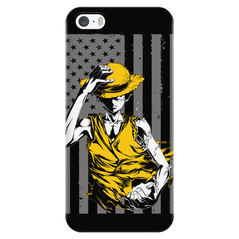 One Piece - Straw hat Luffy American Flag - Iphone Phone Case - TL01092PC
