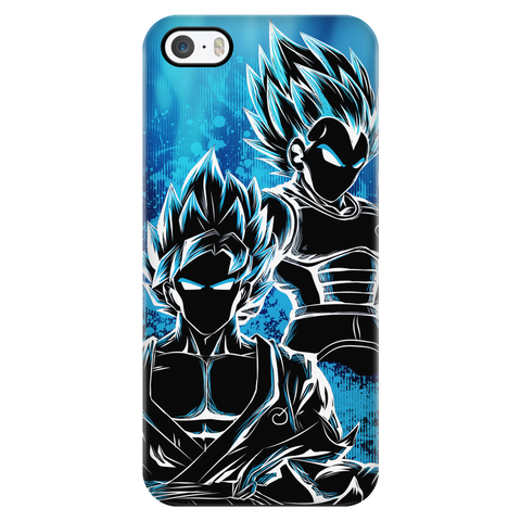 Super Saiyan - Goku and Vegeta SSj God Blue - Iphone Phone Case - TL00950PC
