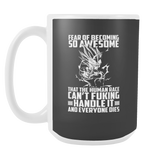 Super Saiyan Majin Vegeta Fear of Becoming so Awsome15oz Coffee Mug- TL00451M5