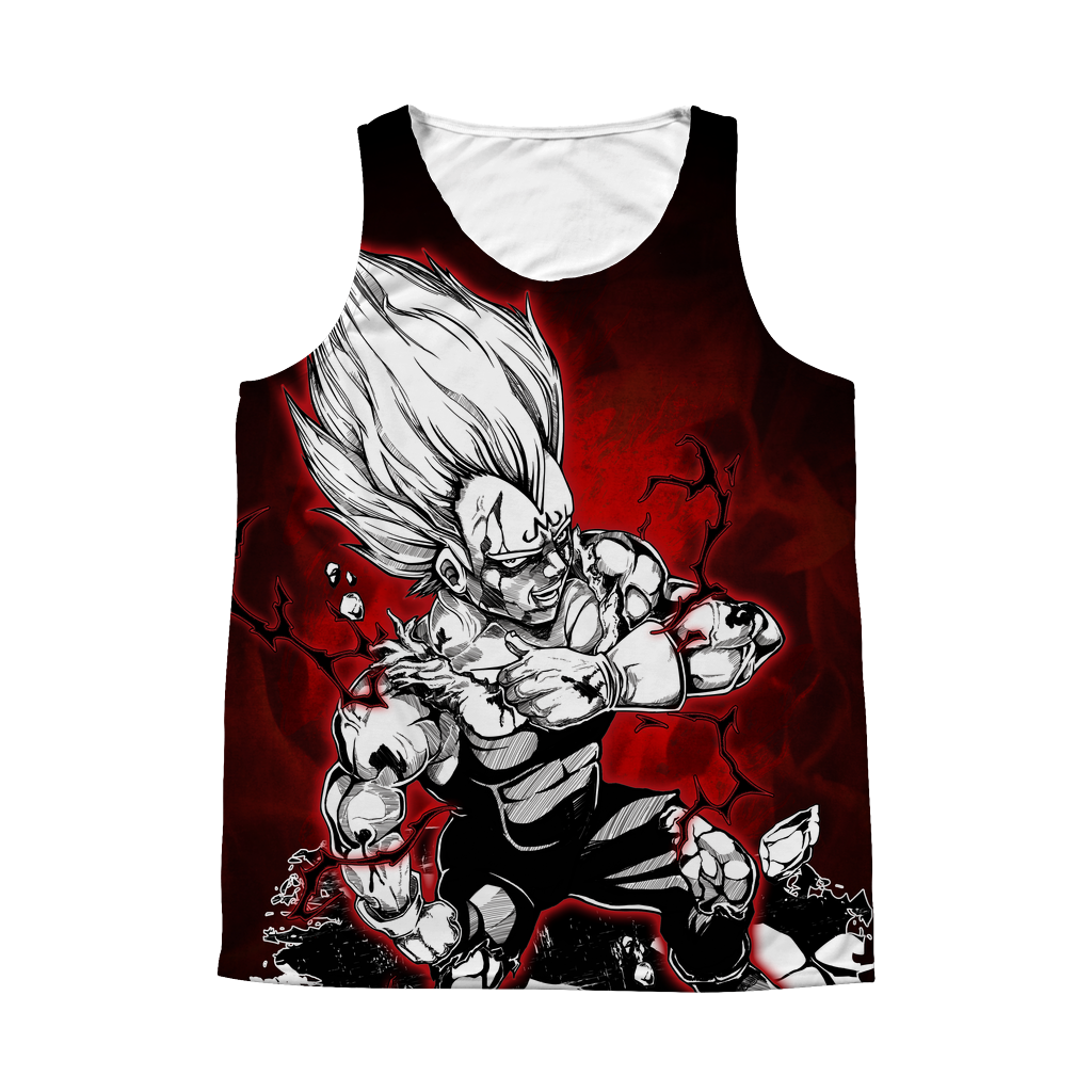Super Saiyans Vegeta 1 Sided 3D tank top t shirt - TL00422AT