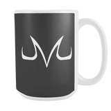 Super Saiyan 15oz Coffee Mug - White Majin Vegeta Buu Symbol - TL00050M5