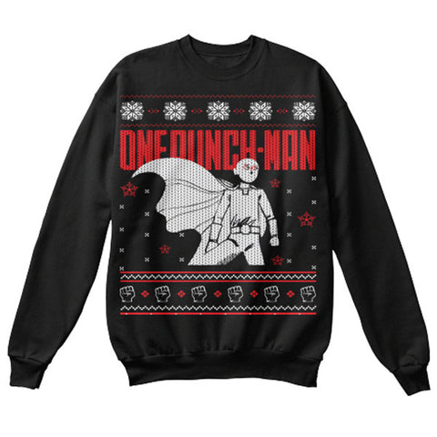 One Punch Man - Ugly Sweater One Punch - Unisex Sweatshirt T Shirt - SSID2016
