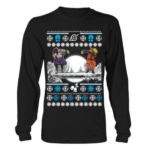 Naruto - SASUKE DAB UGLY CHRISTMAS SWEATER - Unisex Long Sleeve T Shirt - SSID2016