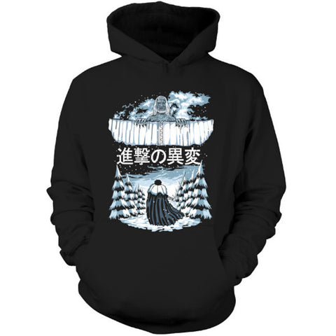 Attack on titan - Attack on the Wall - Unisex Hoodie T Shirt - SSID2016