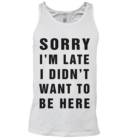 One Piece - I didn't want to be here - Unisex Tank Top T Shirt - SSID2016