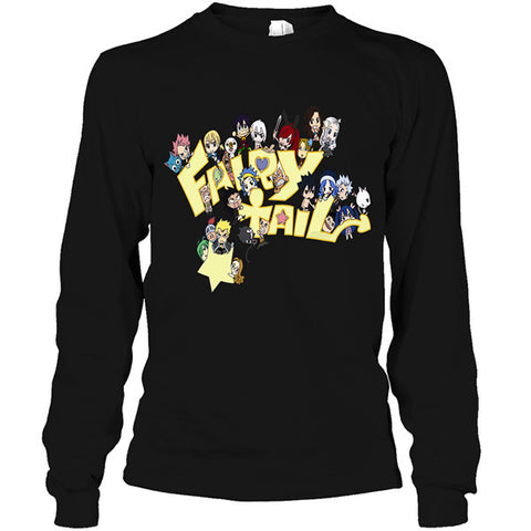 Fairy Tail - fairy tail chibi - Unisex Long Sleeve T Shirt - SSID2016