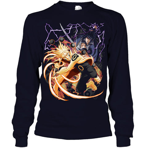 Naruto - Naruto and Sasuke - Unisex Long Sleeve T Shirt - SSID2016