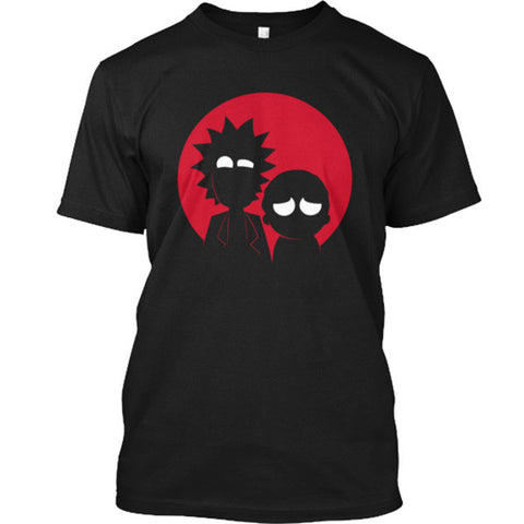 Rick And Morty - silhouette artwork - Men Short Sleeve T Shirt - SSID2016
