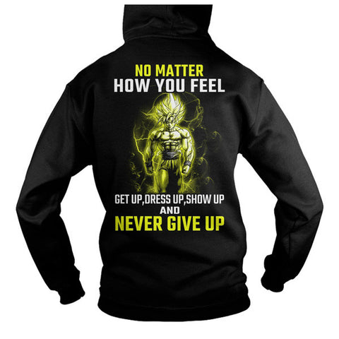 Super Saiyan - Goku Never give up -Unisex Hoodie  - SSID2016