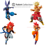 "Sale 100% Original BANDAI Gashapon Toy Figure Battle VS 02 - Full Set of 4 Pieces Goku Beerus Gogeta Broly from ""Dragon Ball Z"""