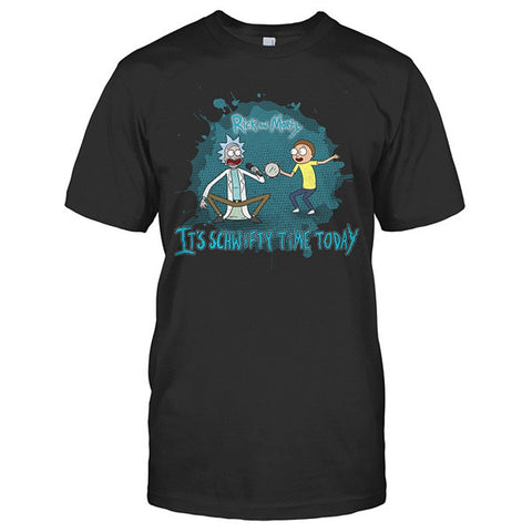 Rick And Morty -  It's schwifty time today - Men Short Sleeve T Shirt - SSID2016