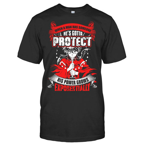 Inuyasha - When A Men Has Someone, He's Gotta Protect His Power Grows Expomentially - Men Short Sleeve T Shirt - SSID2016