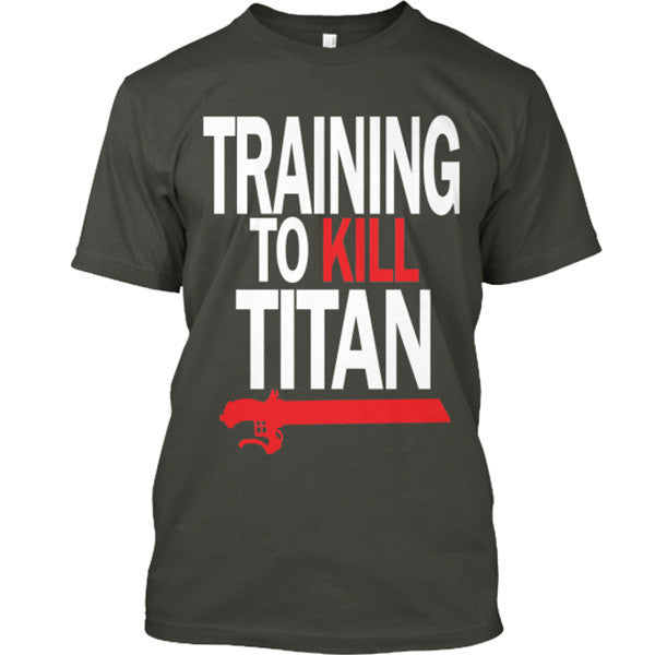 Attack on titan - TRAINING TO KILL TITAN - Men Short Sleeve T Shirt - SSID2016