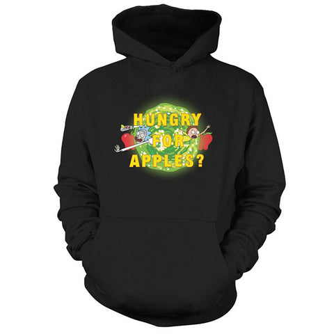Rick And Morty - hungry for apples? - Unisex Hoodie T Shirt - SSID2016