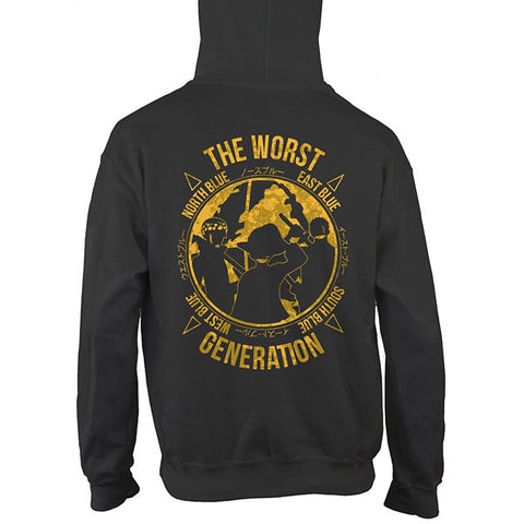 One Piece - The Worst Generation - Unisex Hoodie T Shirt - SSID2016