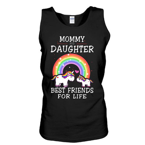 Unicorn - Mommy and daughter bestfriend for live  - Unisex Tank Top - SSID2016