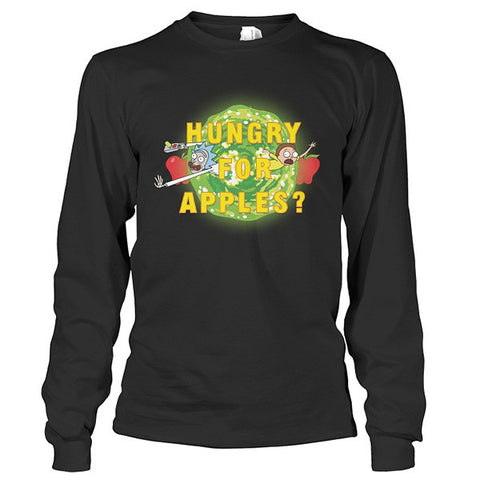 Rick And Morty - hungry for apples? - Unisex Long Sleeve T Shirt - SSID2016