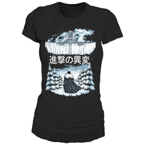 Attack on titan - Attack on the Wall - Woman Short Sleeve T Shirt - SSID2016