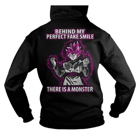 Super Saiyan - Behind my perfect fake smile there is a monster -Unisex Hoodie  - SSID2016