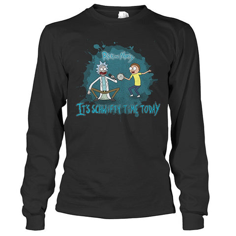 Rick And Morty - It's schwifty time today - Unisex Long Sleeve T Shirt - SSID2016