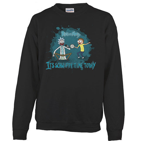Rick And Morty - It's schwifty time today - Unisex Sweatshirt T Shirt - SSID2016
