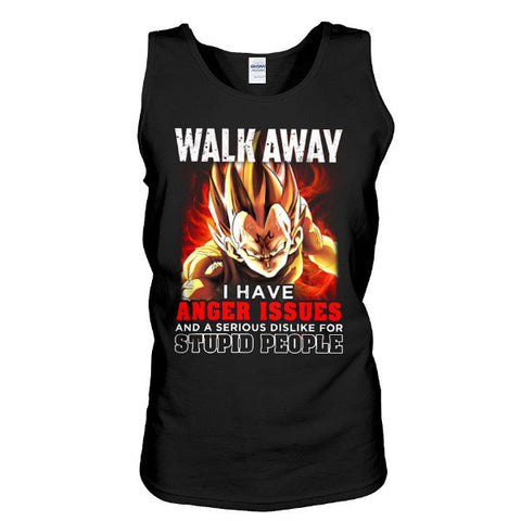 Super Saiyan  - walk away i have anger issues  - Unisex Tank Top - SSID2016,