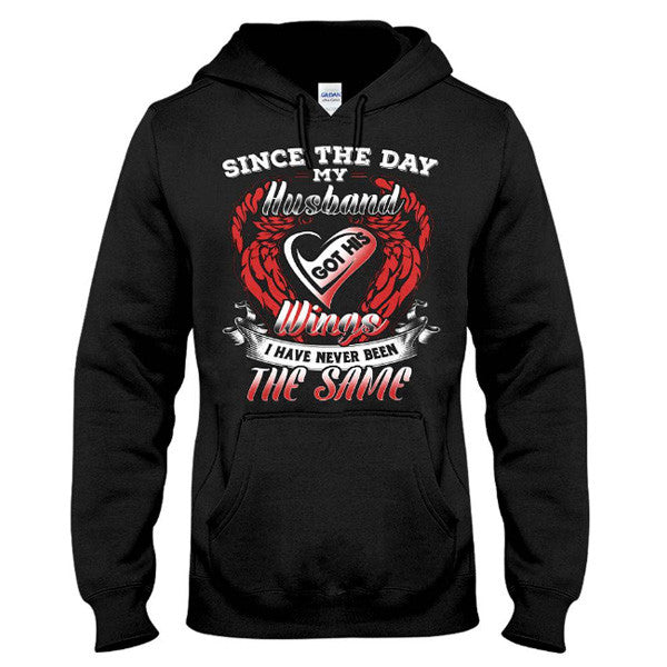 Family Shirt - Since the day my husband got his wings - Unisex Hoodie  - SSID2016