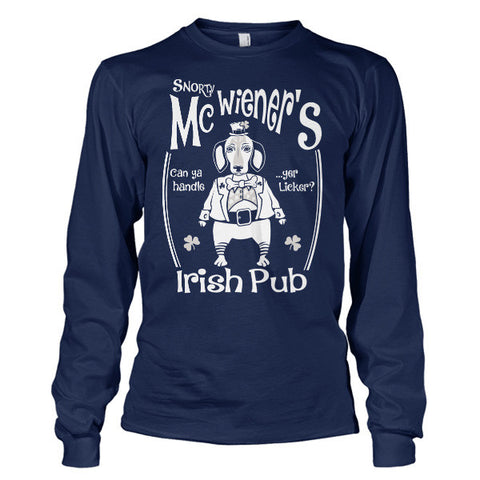 Patrick's Day - Snorty McWiener's  -Unisex Long Sleeve - SSID2016