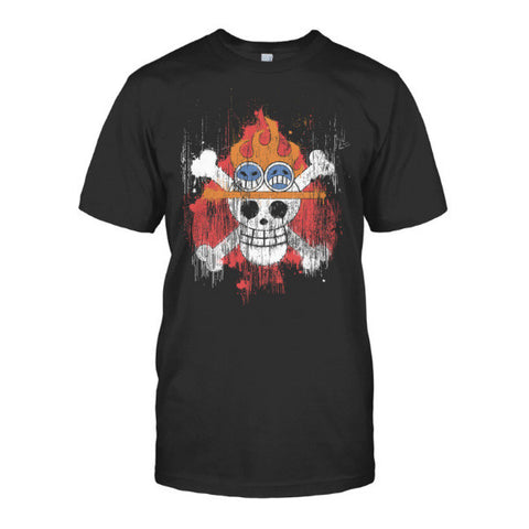 One Piece - Ace Symbol -Men Short Sleeve T Shirt - SSID2016