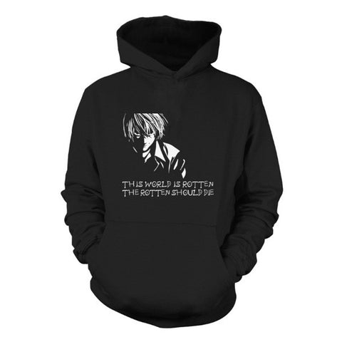 Death Note - This world is rotten the rotten should die  -Unisex Hoodie  - SSID2016