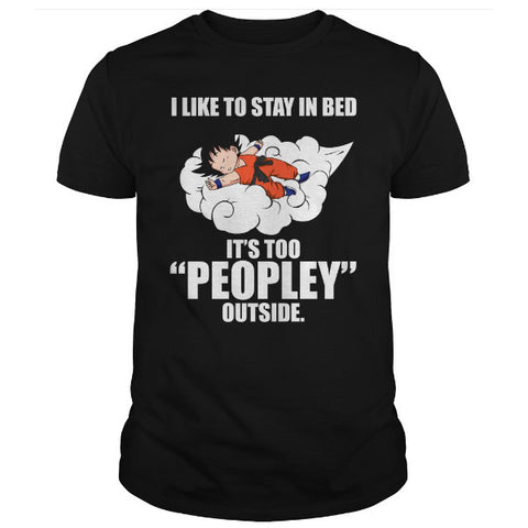 Super Saiyan -  I Like to stay in bed -Men Short Sleeve T Shirt - SSID2016