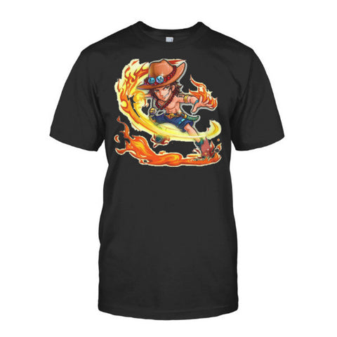 One Piece - Ace Fire Fist 2 -Men Short Sleeve T Shirt - SSID2016