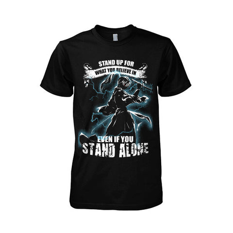 Rurouni Kenshin - Stand up for what you believe in even if you stand along - Men Short Sleeve T Shirt - SSID2016