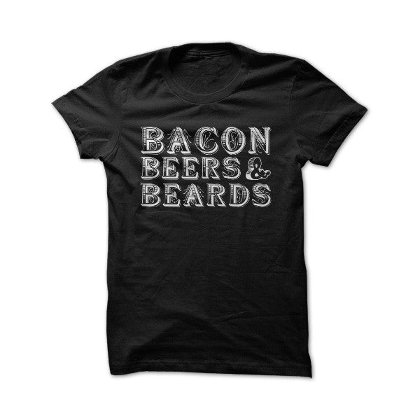 Bacon beer and beard -Men Short Sleeve T Shirt - SSID2016