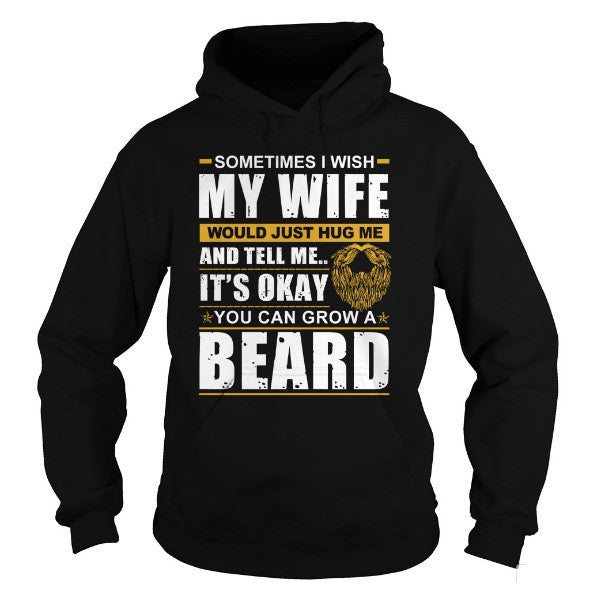 Beards - GROW A BEARD -Unisex Hoodie  - SSID2016