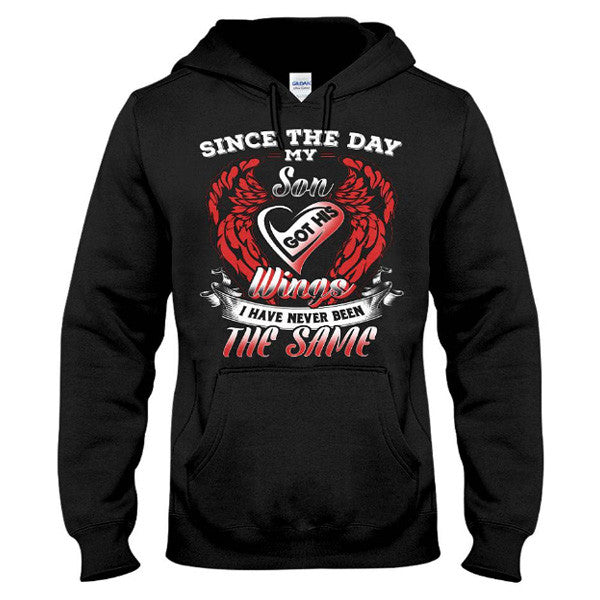 Family Shirt - Since the day my son got his wings - Unisex Hoodie  - SSID2016