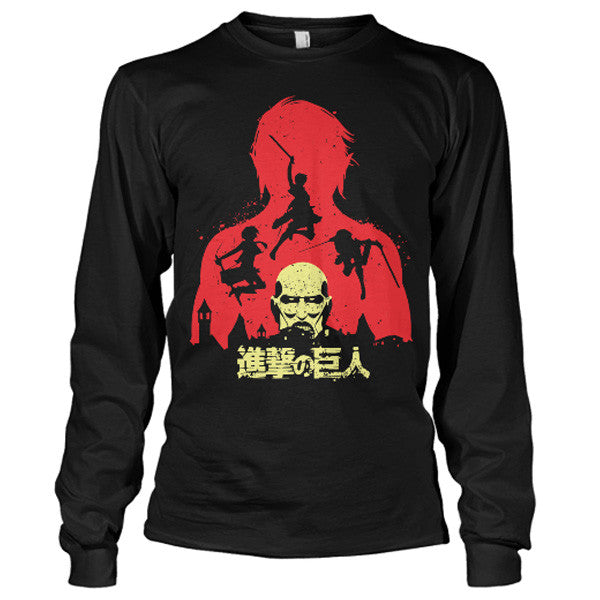 Attack on titan - Titans - Unisex Long Sleeve T Shirt - SSID2016